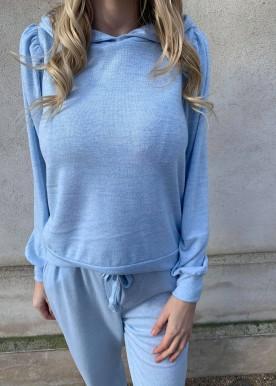 FQLIVANA-PU-HOODIE Chambrey blue