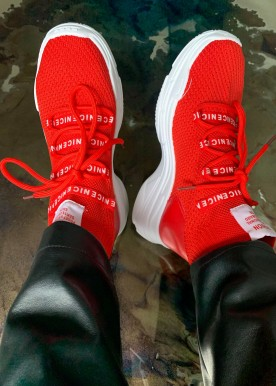 liv sneakers red