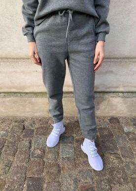 pcchilli hw sweat pants dark grey melange
