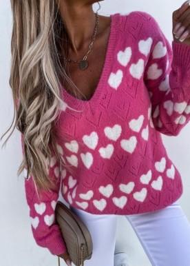 akaza heart sweat pink