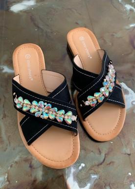 melia black sandal
