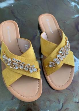 melia yellow sandal