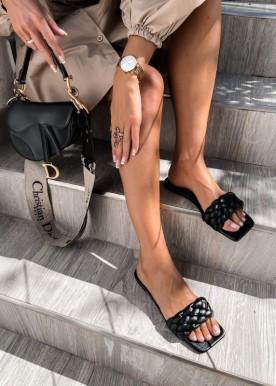 joan slippers black