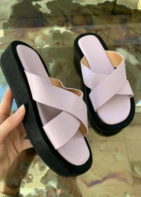 sigga slippers purple
